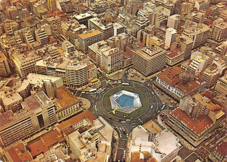 Αθήνα, πλατεία Ομονοίας, άποψη από ψηλά, 1970s. ebay.