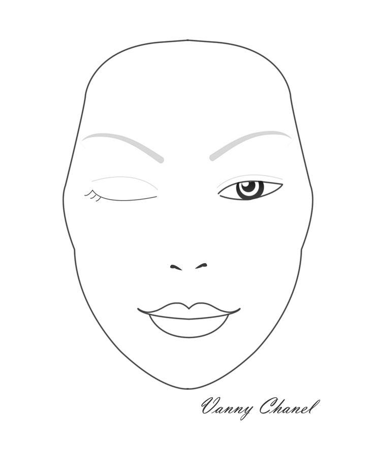 Blank Mac Face Chart - Ajilbab.Com Portal