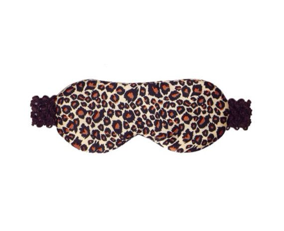 Satin Sleep Mask, Eye Mask, Travel Mask. Tan, Brown, Black, Leopard Print. Spa Blackout Nap Mask. Luxury Gift Under 25. Travel Sleep Aid.
