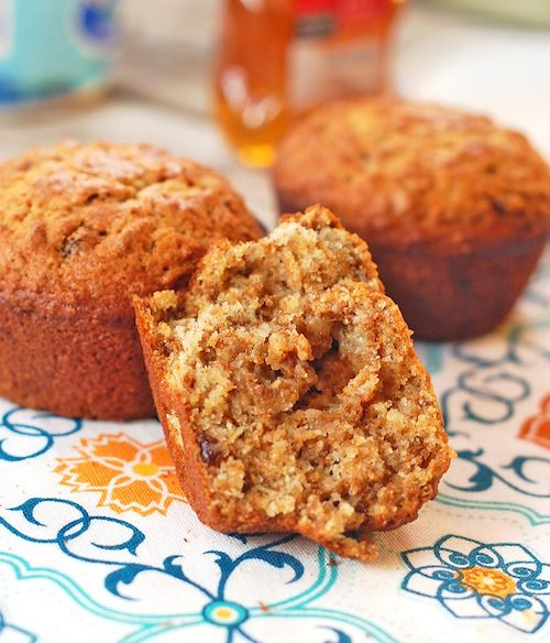 Raisin Bran Cereal muffins...save some batter in the fridge and microwave it for 1 minute for a freshly baked muffin every morning.