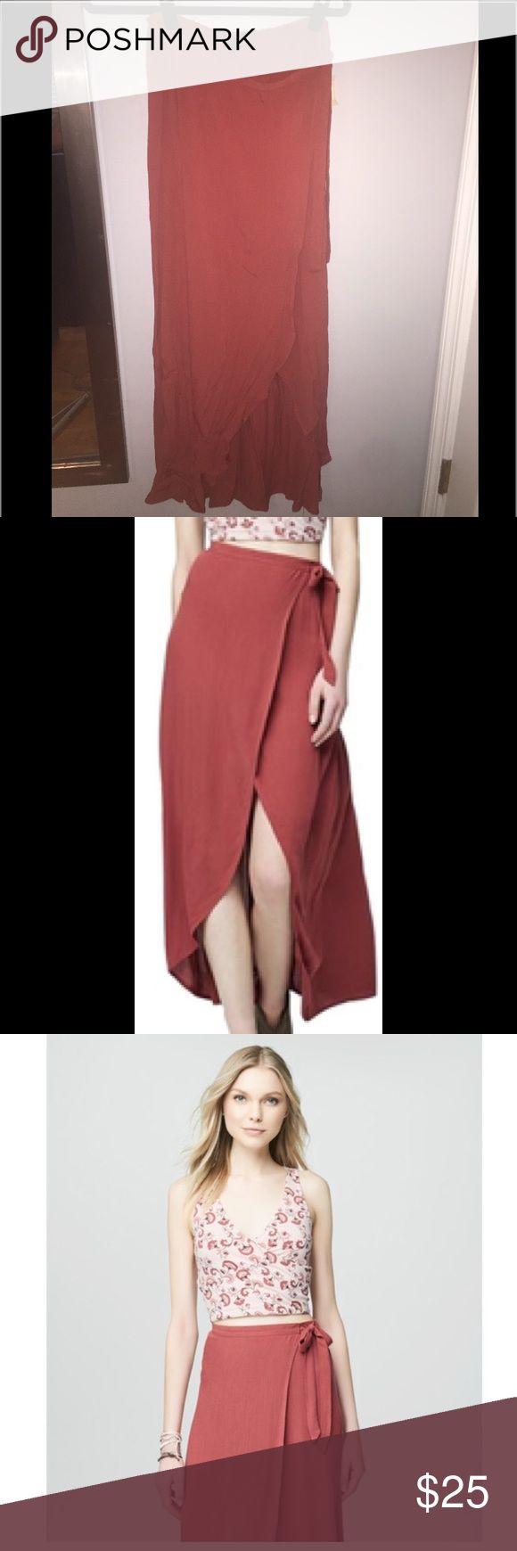 Maxi Wrap Skirt Super cute maxi wrap skirt. Light material. Brand new! Aeropostale Skirts Maxi
