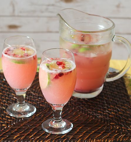 Sparkling cranberry-lime seltzer - There is something about a festive punch or a fancy glass filled with a colorful, fruity drink at a Thanksgiving get-together that sets the tone for the entire gathering. This easy-to-prepare non-alcoholic sparkling drin
