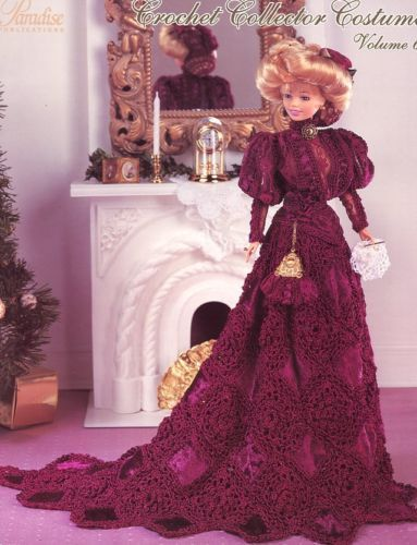 1899 Turn Of The Century Lady for Barbie Paradise Vol. 64 Crochet PATTERN NEW