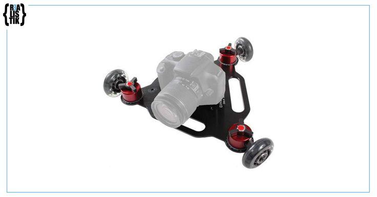 Nuestro Mini Dolly de tres ruedas es perfecto para superficies lisas, sus tres ruedas de ángulo variable nos permiten hacer movimientos desde líneas rectas hasta circunferencias.