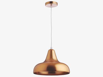 AERIAL METALLICS Metal Copper metal ceiling light - HabitatUK