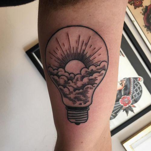lightbulb tattoo watercolour - Google Search