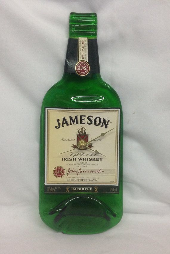Hey, I found this really awesome Etsy listing at https://www.etsy.com/listing/199523360/jameson-liquor-bottle-wall-clock