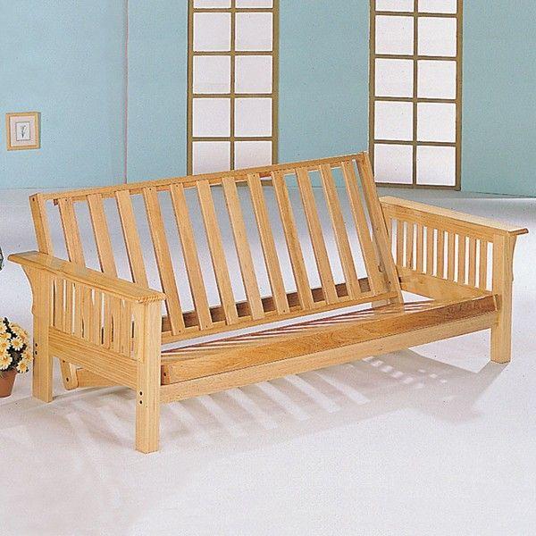 Coaster Furniture - Natural Transitional Futon Frame - 4838