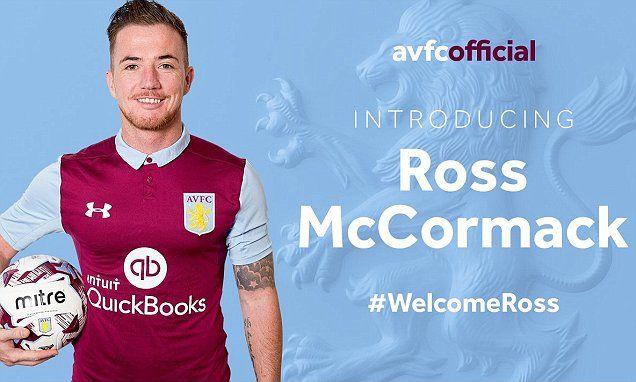 Aston Villa confirm the £12m signing of Ross McCormack from Fulham