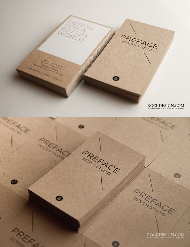 Kraft Business Cards - Business Cards on Creattica: Your source for design inspiration