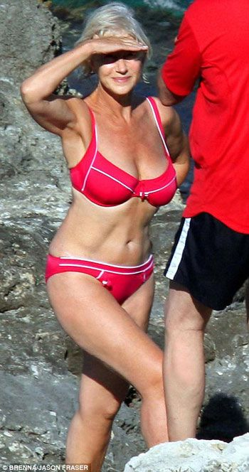 66 year old Helen Mirren in a bikini. if this doesn't inspire you, nothing will.