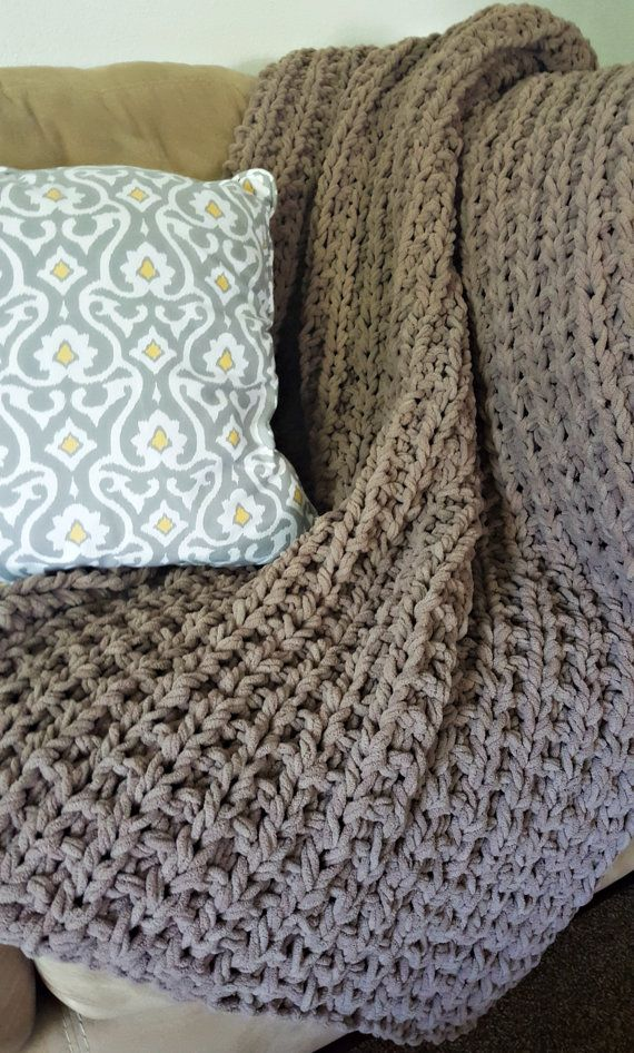 Super Chunky Knit Throw Made To Order