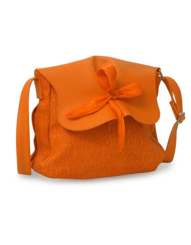 A textured orange Baggit Bag by Baggit