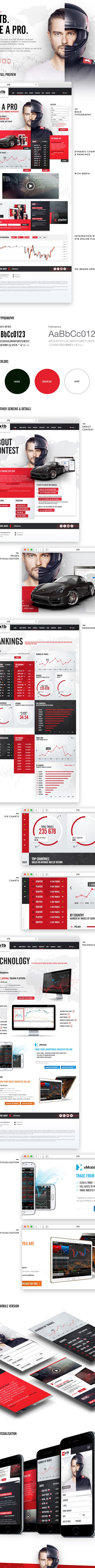 XTB Online Trading. Be a Pro. on Behance