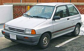 1988 Ford Festiva. I had two of these, although I'm not quite sure how I and all the clowns managed to fit in them. When gas was $.97 a gallon, they cost about $9.00 to fill up, and if you parked it just right, you could fill the car up without getting out. They were also an absolute blast to drive, and they told the world that you were very, very secure in your manhood.