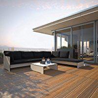 Gartenmöbel Garten Conmoto Riva Lounge - Kombination 1 / A anthrazit - Sitzgarnitur - 320 cm x 240 cm mit Chaiselongue Aff link