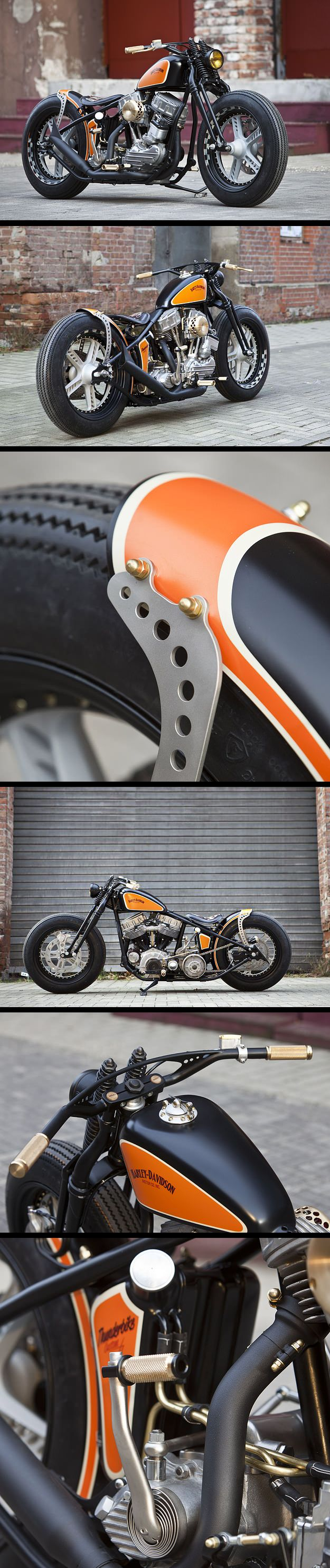 Harley Davidson 1951 Bobber par Thunderbike #motorcycles #motos #bobber | caferacerpasion.com