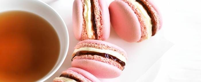These pink macarons are the perfect addition to any afternoon tea!