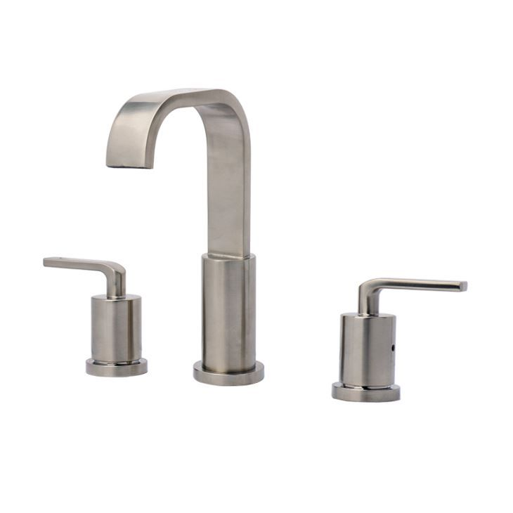 Wholesale Brushed Nickel Two Handles 8 Inch Widespread Bathroom Sink Faucet  with Best Price from GOODRO The best China Faucets Manufacturer. 50 best Bathroom Faucets images on Pinterest   Stainless steel