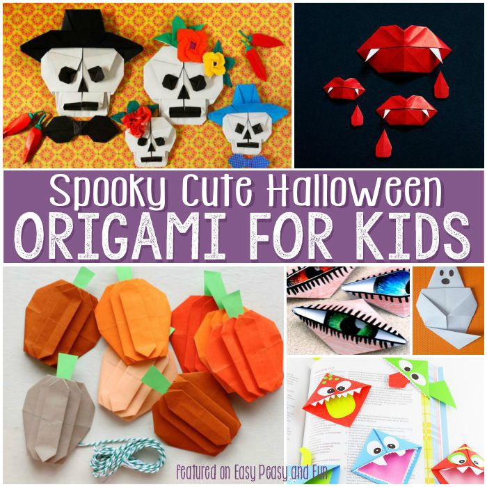 Halloween Origami for Kids - Easy projects perfect for beginners and kids