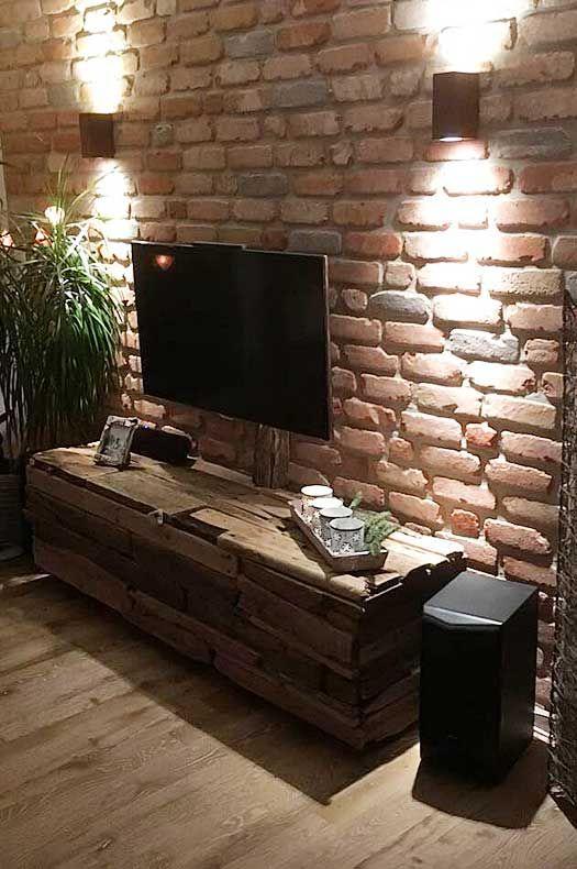 DIY TV Schrank Treibholz Möbel Selber Bauen
