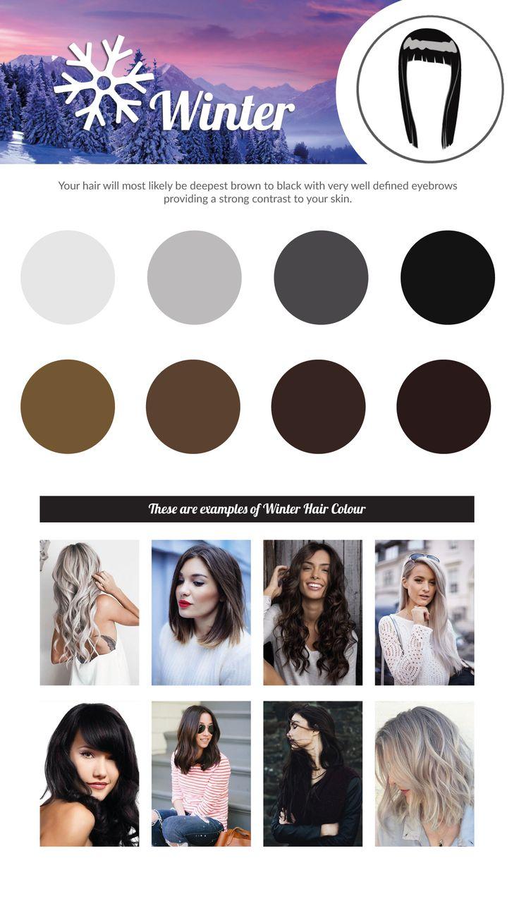 WINTER Hair Colour Chart.