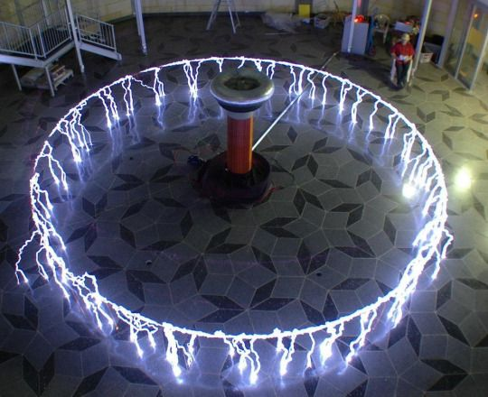 A Long Exposure Of Tesla Coil
