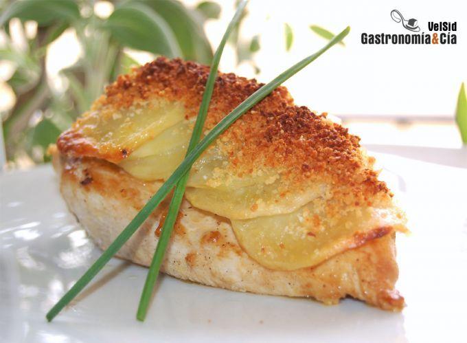 Pollo con patatas crujientes