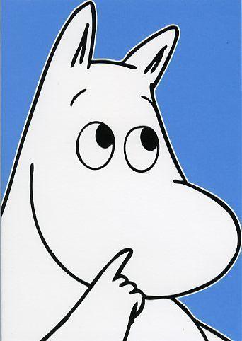Moomin - Moomintroll Card