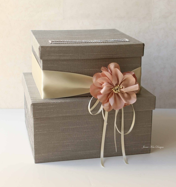 Wedding Card Box Wedding Money Box Gift Card by jamiekimdesigns......perfect for my wedding style! im gonna have to make one exactly like this!!