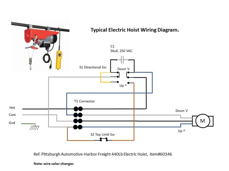 Electric Hoist Wiring Diagram