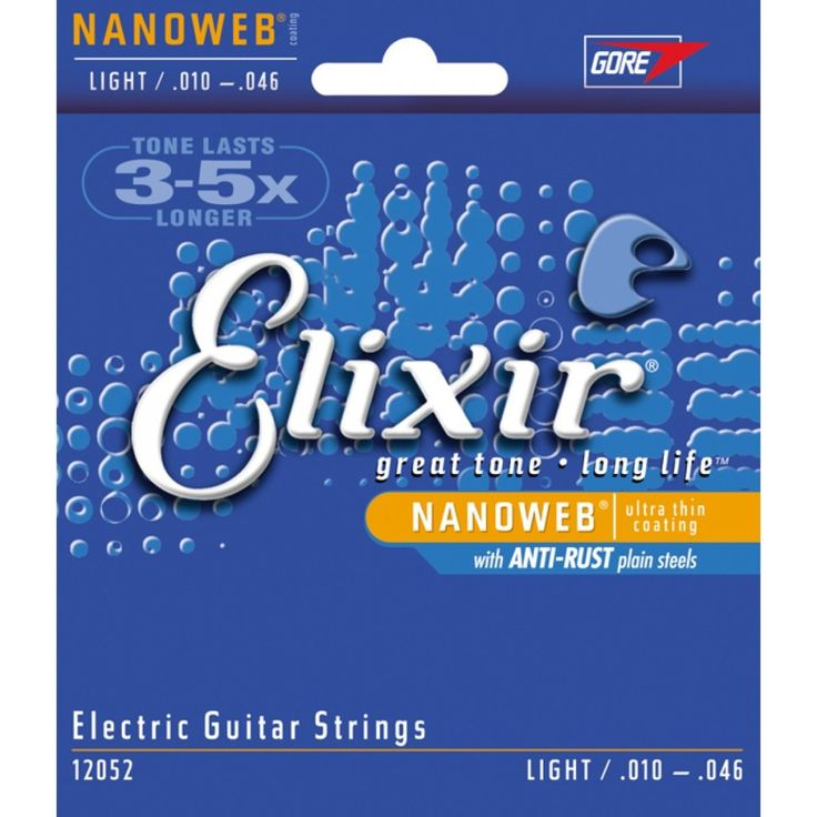Elixir - Nanoweb - Eletric Guitar Strings - Light 0.10 - 0.46