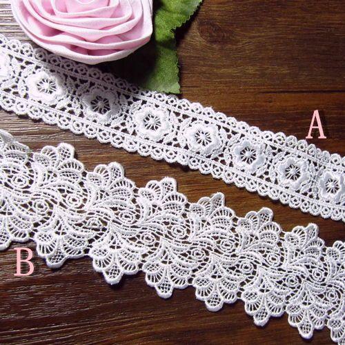 Vakkert håndlaget hvit silke blondere Tilbehør inn 2 - Taobao