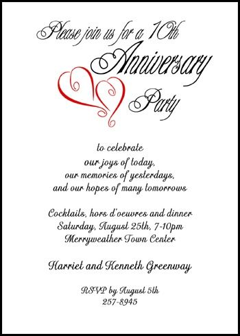 9 best 25th \ 50th Wedding Anniversary Invitations Templates - anniversary invitation template