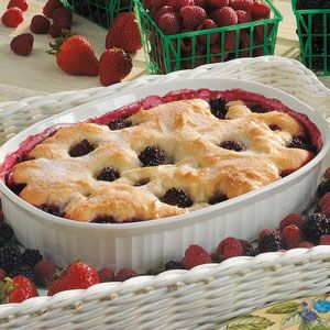 """Diabetic friendly"" Blackberry Cobbler"