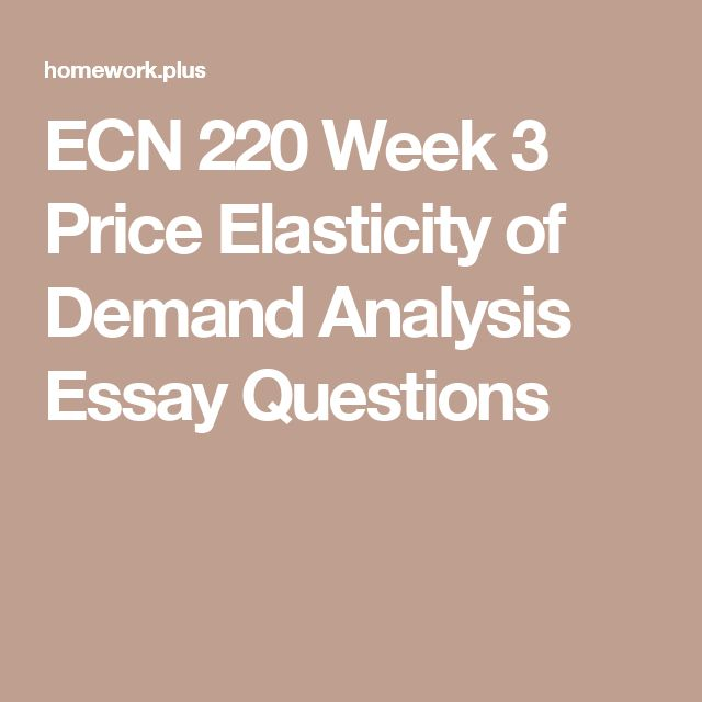 ECN 205 Microeconomics Assignment 2