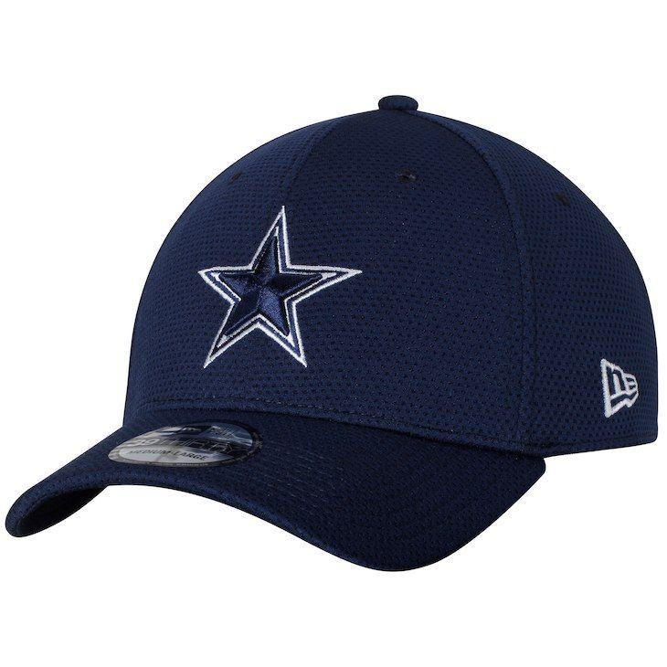 87e8d396d0a Men s Dallas Cowboys New Era Navy Training Mesh 39THIRTY Flex Hat ...