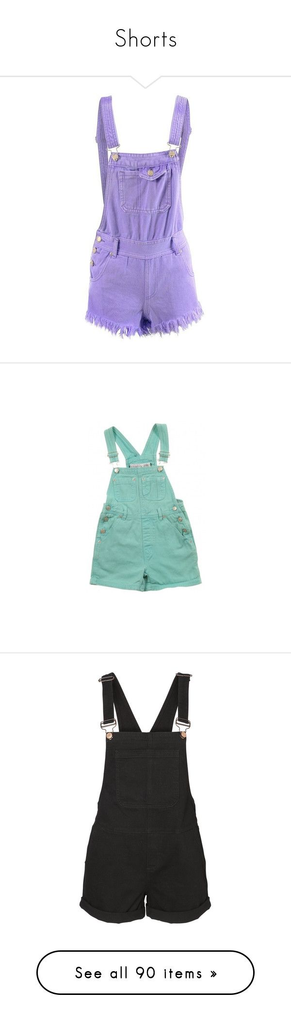 """Shorts"" by kiara-cvrtnjak on Polyvore featuring jumpsuits, rompers, shorts, overalls, dresses, bottoms, pants, bib overalls, purple romper i dungaree overalls"