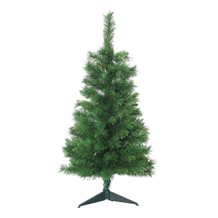 3 ft. Unlit Tacoma Pine Artificial Christmas Tree, Greens