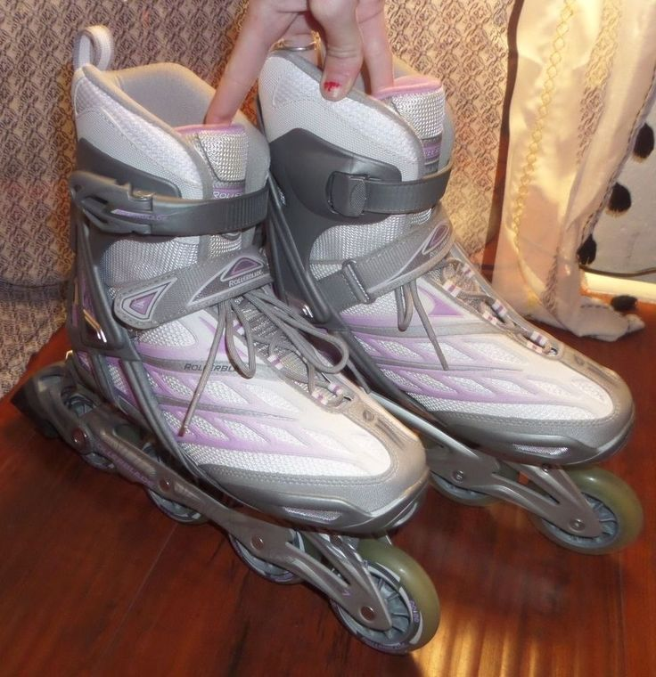 Purple/White/Gray Rollerblades Wing 50 Workout Inline Skates Womens Size 9 NICE #Rollerblade #outdoor #sports #boardwalk #summer #beach #outside #rollerblading #skating #fun #quality #shop #buy #purple