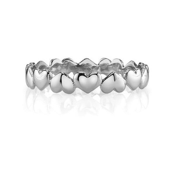 Petite Heart Wedding Band Ring, 14K White Gold ($475) ❤ liked on Polyvore featuring jewelry, rings, white gold rings, 14k wedding ring, white gold jewelry, white gold wedding rings and heart shaped wedding rings