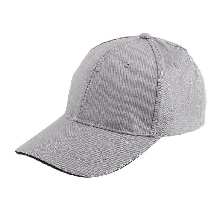Sale Blank Curved Plain Baseball Cap Visor Hat Gppd Solid Color Adjustable with grey white black khaki red color