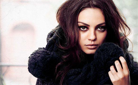 6. Mila Kunis: Actriz que se ha ganado el corazón de muchos hombres. Y no es de extrañar porque la belleza de esta actriz es innegable.