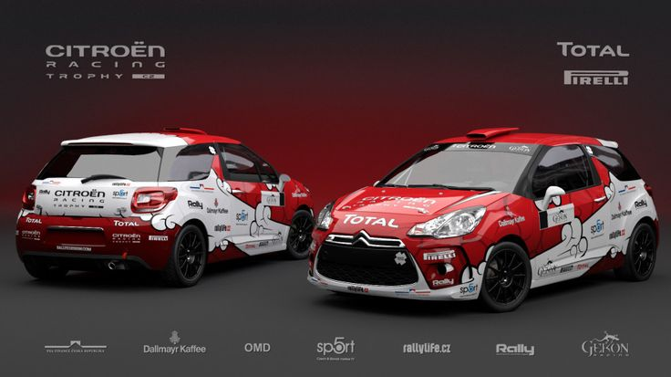 Gekon Racing for Czech Women Talent (Citroen DS3 R1) - design and wrap for season 2013.