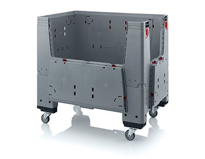 Plastic pallet boxes heavy duty.  By using this pallet boxes volume transport and storage is possible. which saves on costs.  High quality that brings us further – Norah Benelux since 1953