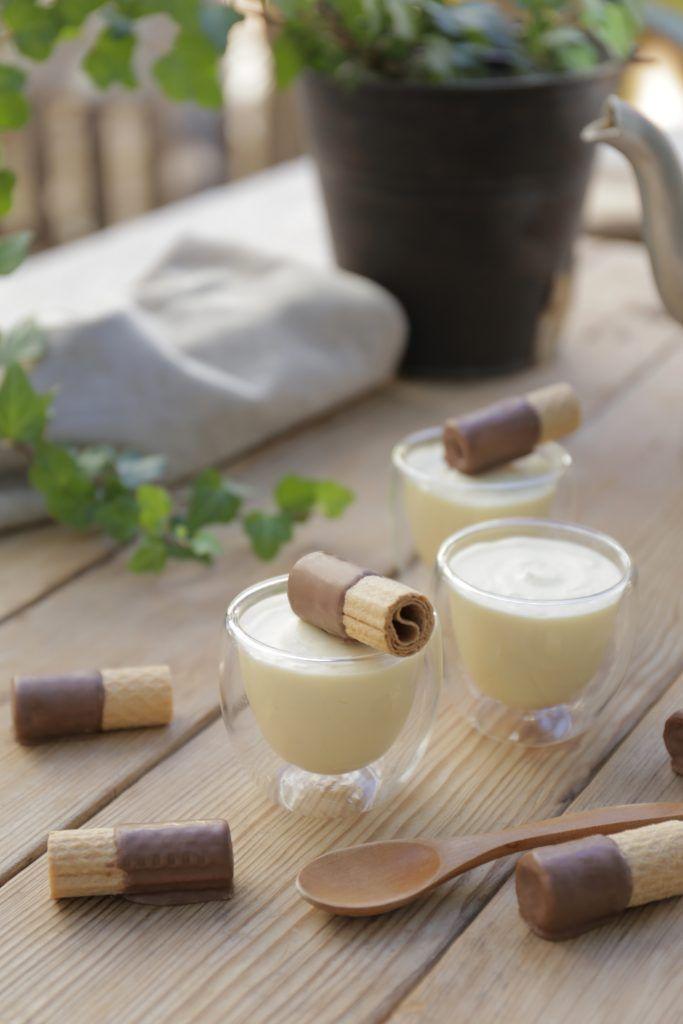 Mousse de chocolate blanco con sólo 2 ingredientes