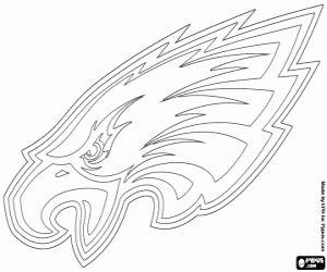 Logo of Philadelphia Eagles, american football franchise in NFC East Division, Philadelphia, Pennsylvania coloring page