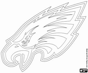 Logo of Philadelphia Eagles, american football franchise in NFC East Division, Philadelphia, Pennsylvania coloring page