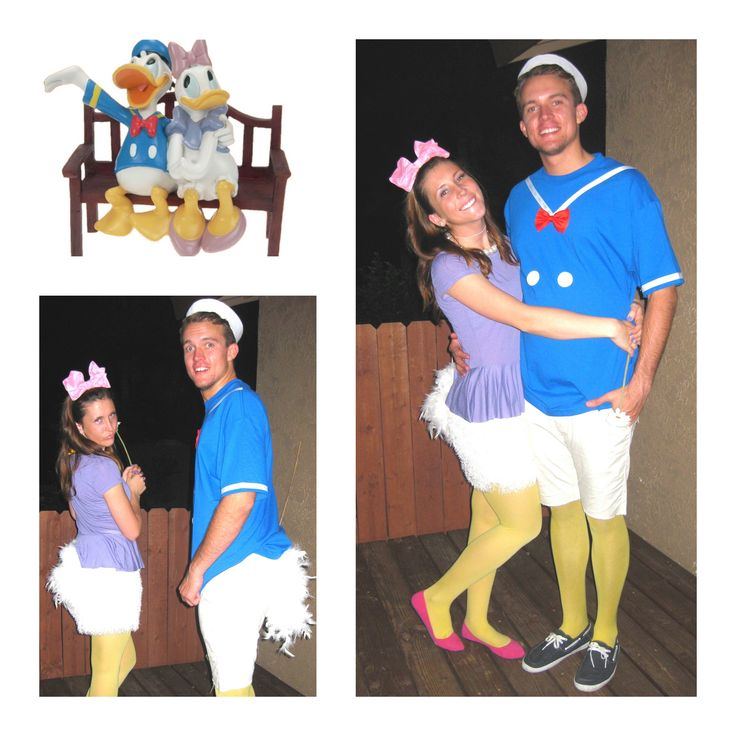 Daisy and Donald Duck for Halloween! #costumes #disney #diy
