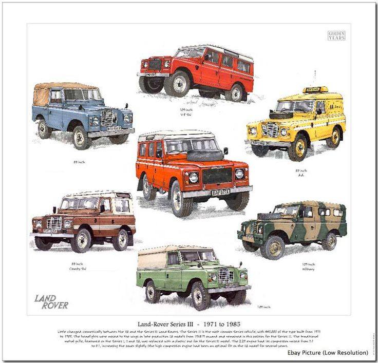 Land Rover series II utility models poster